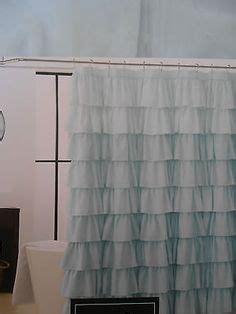 pale aqua ruffle shower curtain apartment ideas