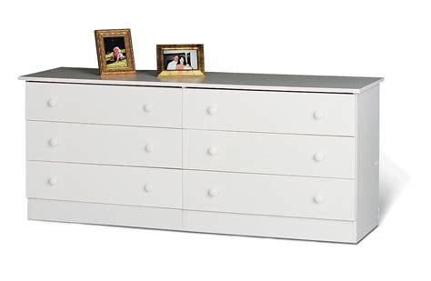 prepac sonoma white 59 inch 6 drawer dresser beyond stores