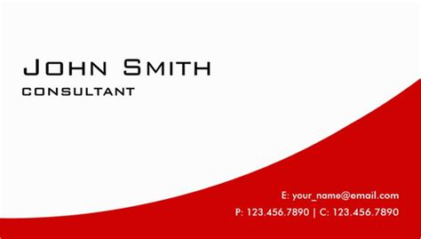 Red Business Card Template 21 Red Business Cards Free