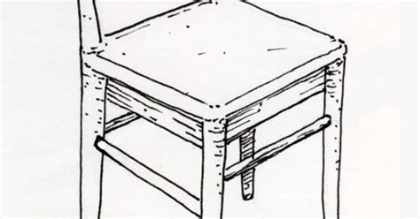 mobilier table dessin d une chaise