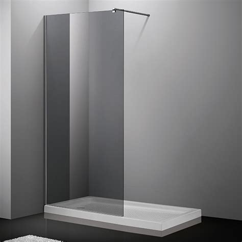 paroi fixe de 80 224 120 cm fum 233 pour de salle de bain