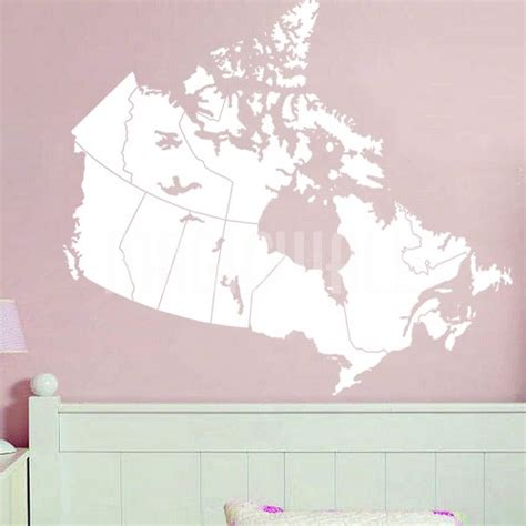 wall decals canada map wall stickers