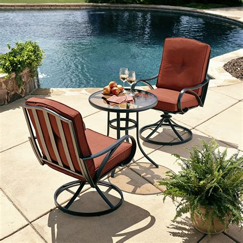 grand resort oak hill 3 cushion bistro set limited availability outdoor living patio