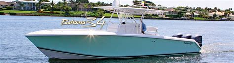 Center Console Boats Top Rated by Bahama 34 Model The Newest Most Affordable Center