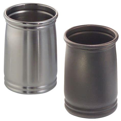 cameo metal bathroom tumbler stainless steel in vanity