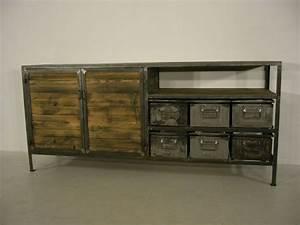 Kommode Industrial Look : metall kommode haus renovieren ~ Markanthonyermac.com Haus und Dekorationen