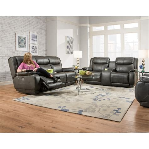 Southern Motion Velocity Reclining Sofa by Southern Motion Velocity Reclining Console Sofa