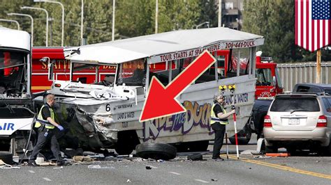 Tug Boat Accidents Youtube by Seattle Duck Tour Car Crash Front Axle Of Hibious