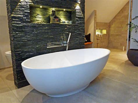 Freistehende Badewanne Campione Aus Mineralguss Weiß