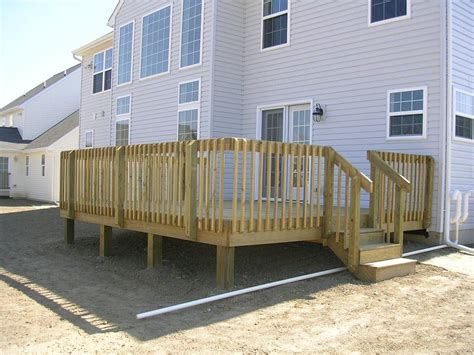 Pressure Treated Wood Deck In Lancaster, Pa Stump's