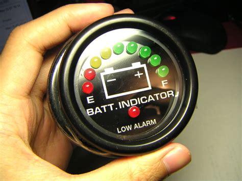 Boat Battery Gauge by Waterproof 12v Led Battery Meter Gauge For Boat Boating Ebay