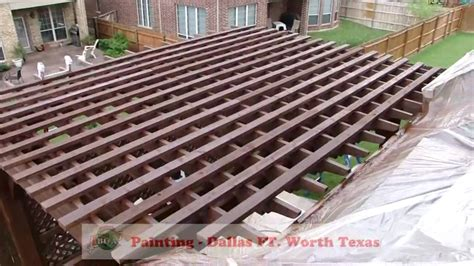 deck staining pergola gazebo decks painting dallas