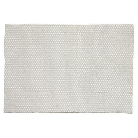 tapis en coton gris 60 x 120 cm origami maisons du monde
