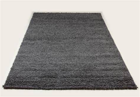 tapis shaggy gris de salon vasco 6