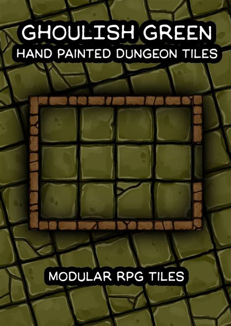 ghoulish green painted dungeon tiles robertson