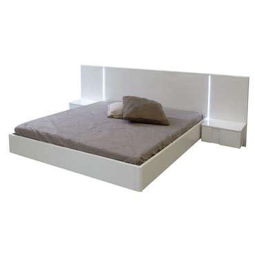 meubles lit 140x190 cm avec chevets int 233 gr 233 s bello coloris blanc lebriconome fr