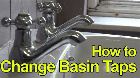 How To Replace Or Fit Basin Taps  Lever Taps Plumbing