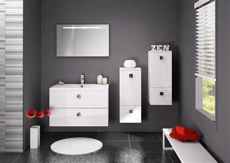 indogate salle de bain blanc et gris