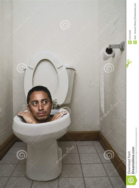 stuck on the toilet stock photo image of potty hang 21013428