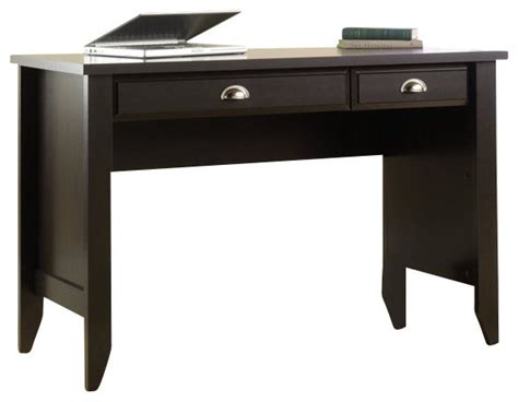 sauder shoal creek desk in jamocha wood finish transitional desks and hutches by cymax