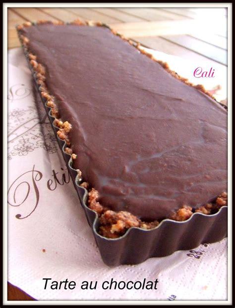 tarte au chocolat sans creme