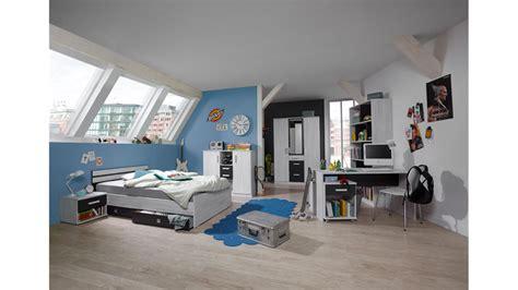 Jugendzimmer 2 Cariba 8 Tlg Weißeiche Abs Lavafarbig