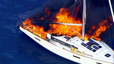 X Fire Boat by Boat Catches Fire Off Florida Coast Wkrc