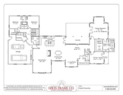 Single Story House Plans With Open Floor Plan-cottage