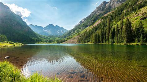 Colorado, Maroon Bells, Landscape Wallpapers Hd / Desktop