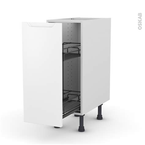 meuble de cuisine range 233 pice epoxy pima blanc 1 porte l30 x h70 x p58 cm oskab