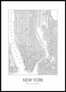 Wand Poster New York : schwarz wei poster mit stadtplan von new york diy pinterest schwarz wei poster und ~ Markanthonyermac.com Haus und Dekorationen