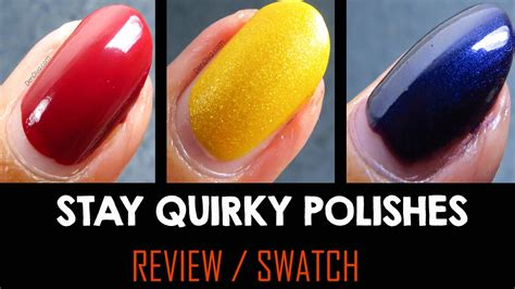 Swatchreview  Stay Quirky Polishes  Dendiva  Youtube