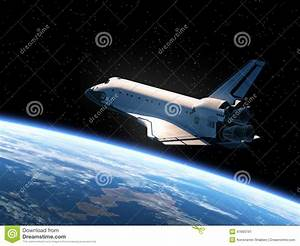 Space Shuttle Orbiting Earth Stock Illustration - Image ...