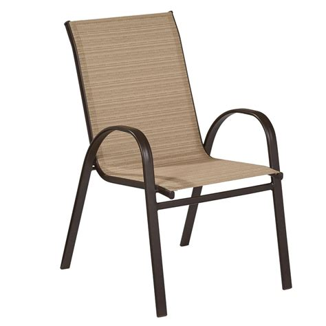 stackable sling patio chairs shop garden treasures