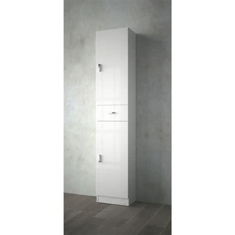 colonne salle de bain blanc laque salle de bain tiroir miroir blanc noyer achat vente colonne