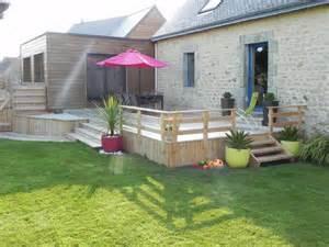 am 233 nagement ext 233 rieur construction de v 233 randa terrasse en bois pr 232 s de quimperl 233 et plouay