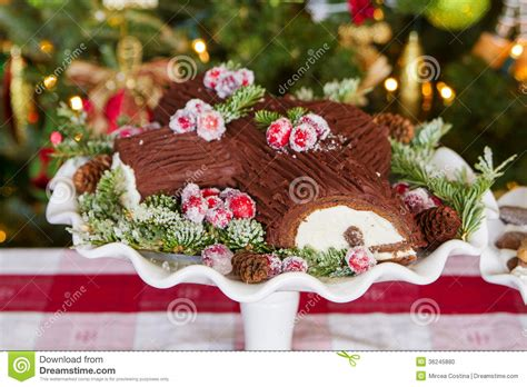 decoration de noel buche