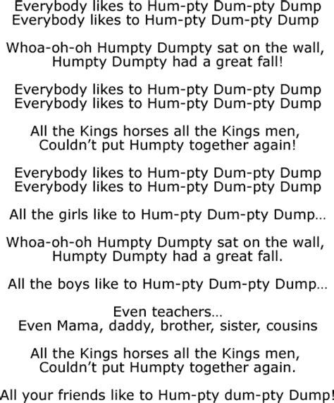 Row Your Boat Lyrics Az by The Cool Humpty Dumpty Song Nursery Rhyme Song Lyrics And