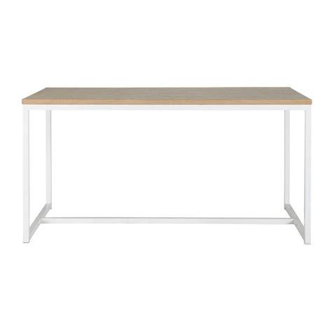 table de salle 224 manger en bois et m 233 tal blanche l 150 cm igloo maisons du monde