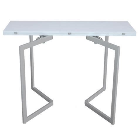 table console extensible blanche laqu 201 e talia achat vente ensemble salle a manger pas cher
