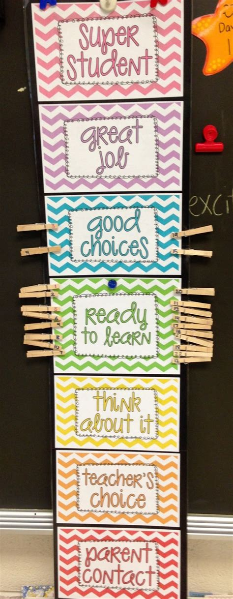 My Classroom Behavior Clip Chart  Teaching  Pinterest  Teaching, Each Day And Student
