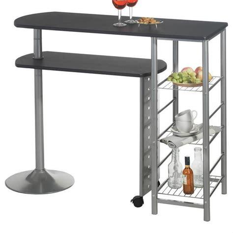 table haute de bar josua mdf d 233 cor noir achat vente meuble bar table haute de bar josua md