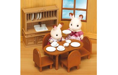 Sylvanian Families  Dining Room Furniture Set Review
