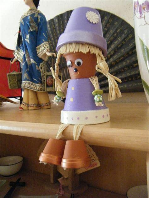 personnage en pot de terre cuite bricolage pots