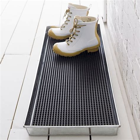 Rubber Boot Tray by Galvanized Metal Boot Tray With Rubber Boot Tray Insert In