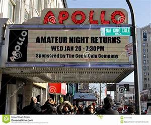 Apollo Theater in Harlem editorial stock photo. Image of ...