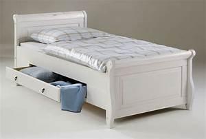 Futonbett 100x200 Weiß : bett 100x200 2 schubladen kiefer massiv wei ~ Markanthonyermac.com Haus und Dekorationen