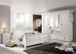 Antik Schlafzimmer Komplett : schlafzimmer set 4teilig kiefer massiv wei lasiert ~ Markanthonyermac.com Haus und Dekorationen