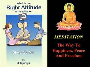 Right Attitude For Meditation