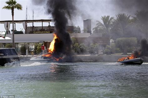 Fire Boat Ibiza by Woman Fights For Life After Yacht Explodes After